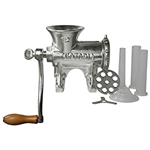 Amazon.com: Victoria Manual Meat Grinder and Sausage Stuffer, Number
