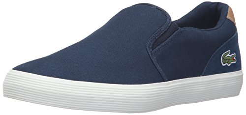 Lacoste Men's Jouer Slip-On 316 1 Cam Fashion Sneaker, Navy, 10 M US