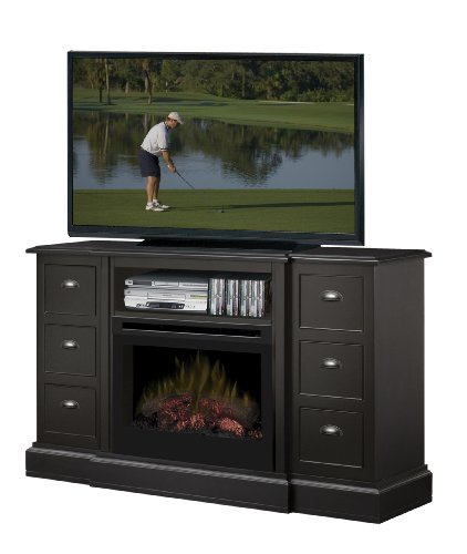 Dimplex DFP25-1347B Gibbons 58-Inch Wide by 32.3-Inch Tall Media Console with Electric Fireplace, Black image B00FAWQFAC.jpg