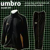【在庫処分特別価格】'U341 ジャージ上下'UMBRO(アンブロ) 黒(白) L
