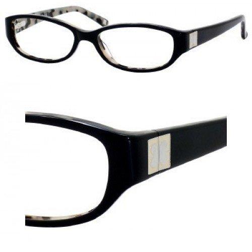 Liz Claiborne 375 Eyeglasses (0ESU) Black Ivory,