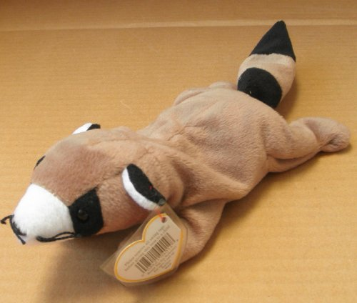 TY Beanie Babies Ringo the Raccoon Stuffed Animal Plush Toy - 12 inches long - 1