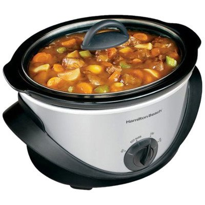 Hamilton Beach/proctor Silex 33141 Oval Slow Cooker - 4 Quart