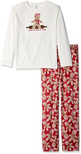 Gymboree Big Girls' Graphic Tee Two-Piece Fire-Resistant Pajamas