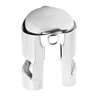 True Fabrications Champagne Stopper, Silver