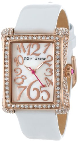 Betsey Johnson Women's BJ00197-07 Analog Rectangle Case Watch