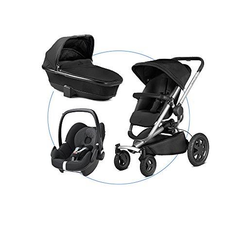 Kombiset-Quinny-Buzz-Xtra-4-Kinderwagen-Sportbuggy-Maxi-Cosi-Babyschale-Kinderautositz-Gruppe-0-0-13-kg-Quinny-Faltbarer-Kinderwagenaufsatz-schwarz