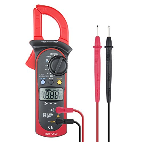 Etekcity MSR-C600 Digital Clamp Meter, Multimeter with Voltage, AC Current and Resistance Test (Ac Voltage Meter compare prices)