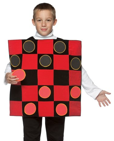 Rasta Imposta Kids Checkers Board Game Funny Halloween Costume