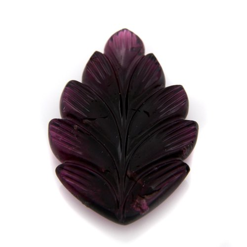 Natural Pink Tourmaline Loose Gemstone Carving Leaf Cut 32*21m 21.95cts SI Grade
