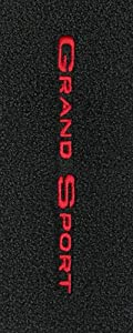 Logo 1995-1996 Chevrolet Corvette Convertible Luxury 2 Pc Front Mats Luxury Cruiser Mat Color: Black Mat Logo: Grand Sport Word Embroidery (1996) - Red