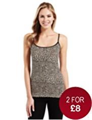 Fairtrade Cotton Rich Strappy Vest with StayNEW™