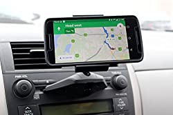 Smartphone Car Mount Holder Universal Cradle CD Slot for iPhone, Samsung, HTC, LG, Motorola, etc. - SHARETHELOVE Clear Sight Design