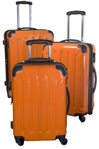 PM Polycarbonat-ABS-Kofferset dunkelorange, 3tlg.