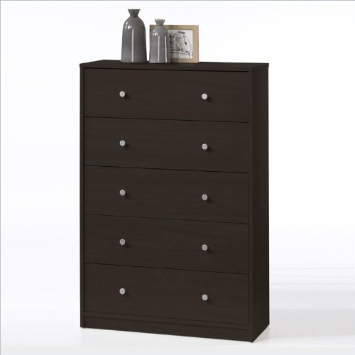 Tvilum Portland 5-Drawer Dresser, Coffee