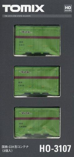 TOMIX HOゲージ HO-3107 C31形コンテナ (3個入)