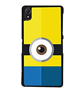 One eyed Cartoon 2D Hard Polycarbonate Designer Back Case Cover for Sony Xperia Z3 :: Sony Xperia Z3 Dual :: Sony Xperia Z3 D6633