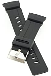PerFit® Resin Watch Band + Sping Rods for CASIO 10001449 G-Shock G100, G101, G200, G2110, G2300, G2310, G2400, GW2300, GW2310, Black