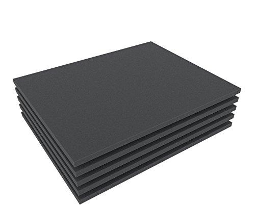 FS010B 5 pcs. Set 10 mm (0,4 Inch) Figure Foam Tray full-size Bottom / Topper