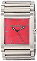 Rockwell Time Unisex RK103 Rook Stainless Steel Silver and Red Watch
