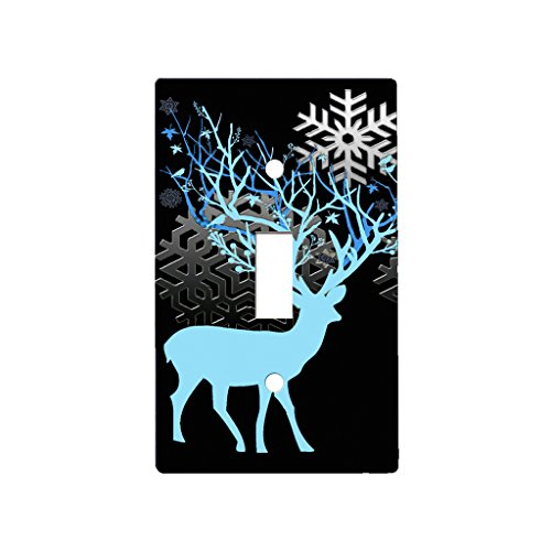 Deer Antler Season - Decor Single Switch Plate Cover Metal