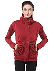 Maroon Winter Zippered for Women by Bfly