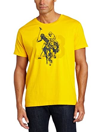 U.S. Polo Assn. Men's Screen Printed T-Shirt, Egg Yoke, X-Large