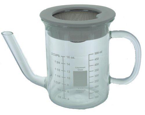 Glaswaren Catamount 2-Tasse mit Sieb Catamount Fettabschöpfer von Glaswaren, Inc.
