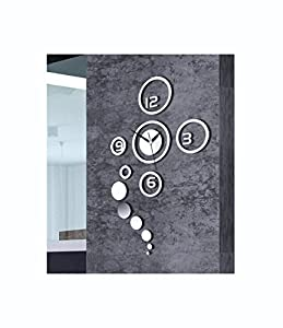 Moderne Wanduhr Design Wandtattoo Dekoration Uhren NEU Spiegel Geschenk