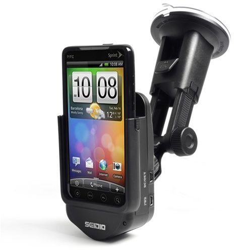 Seidio Innotraveler Car Kit for HTC EVO 4G – Black [Retail Packaging]