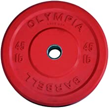 45 LB Solid Rubber Weight Plates Red Pair