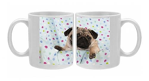 Photo Mug Of Jd-22756 Dog - Pug Puppy On Spotted Blanket From Ardea Wildlife Pets front-891271
