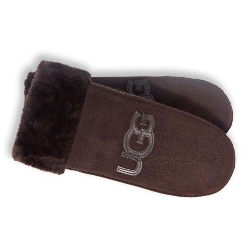 UGGUGG Women's Logo Patch Mitten w/Turn Cuff Glove