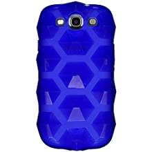 Amzer 94838 Hexagon High Gloss TPU Soft Gel Skinase - Blue For Samsung GALAXY S III GT-I9300