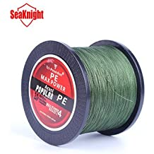 1000M SeaKnight Tri-Poseidon Series Braid Wire PE Braided Fishing Line Braided Line 8-60LB- 4.0, Green