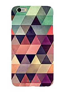 iSweven Printed _iph5_3166 Color full Triangle Design Multicolored Matte finish Back case cover for Apple iPhone 5