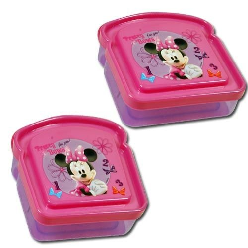Disney Minnie Mouse Bowtique Bread Sandwich Container (Pack of 2) - 1
