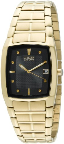 Citizen Men's Eco-Drive Gold-Tone Stainless Steel Watch #BM6552-52E