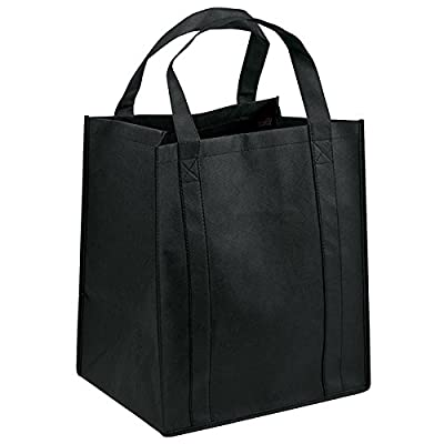 "Pack of 3- Reusable Eco friendly Non woven Grocery Tote bag 15""H x 13""W x 10""gusset - Holiday Gift bags"