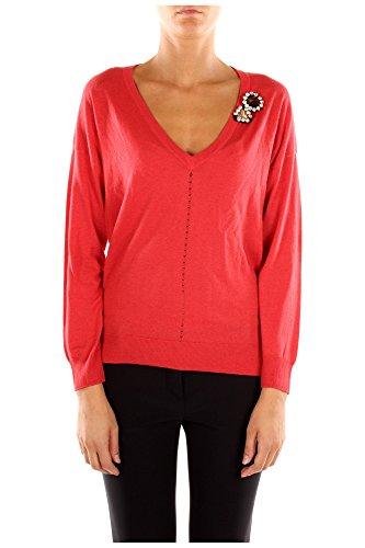 Maglia Pinko Donna Viscosa Rosso e Multicolore 1G118GZ18UR46 Rosso L