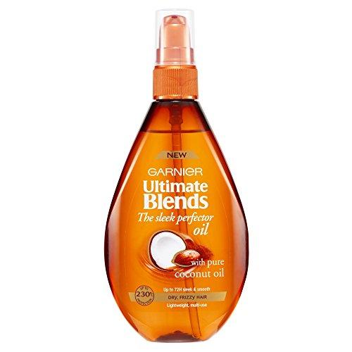 Garnier Ambre Solaire Ultimate Blends Olio di Cocco per Capelli Secchi o Crespi, 150 ml [Versione Inglese]
