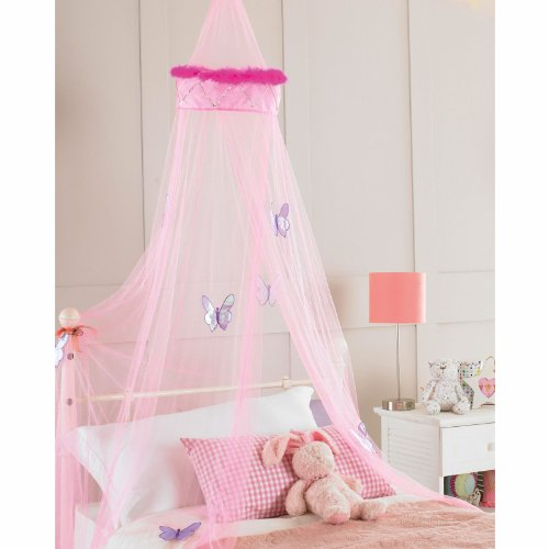 childrens-girls-bed-canopy-mosquito-fly-netting-net-new-30x230cm-pink-faux-fur