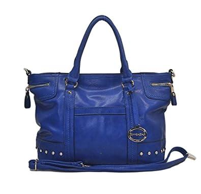 "Sori Collection ""030"" Designer Inspired Big Tote Travel Bag (Blue)"