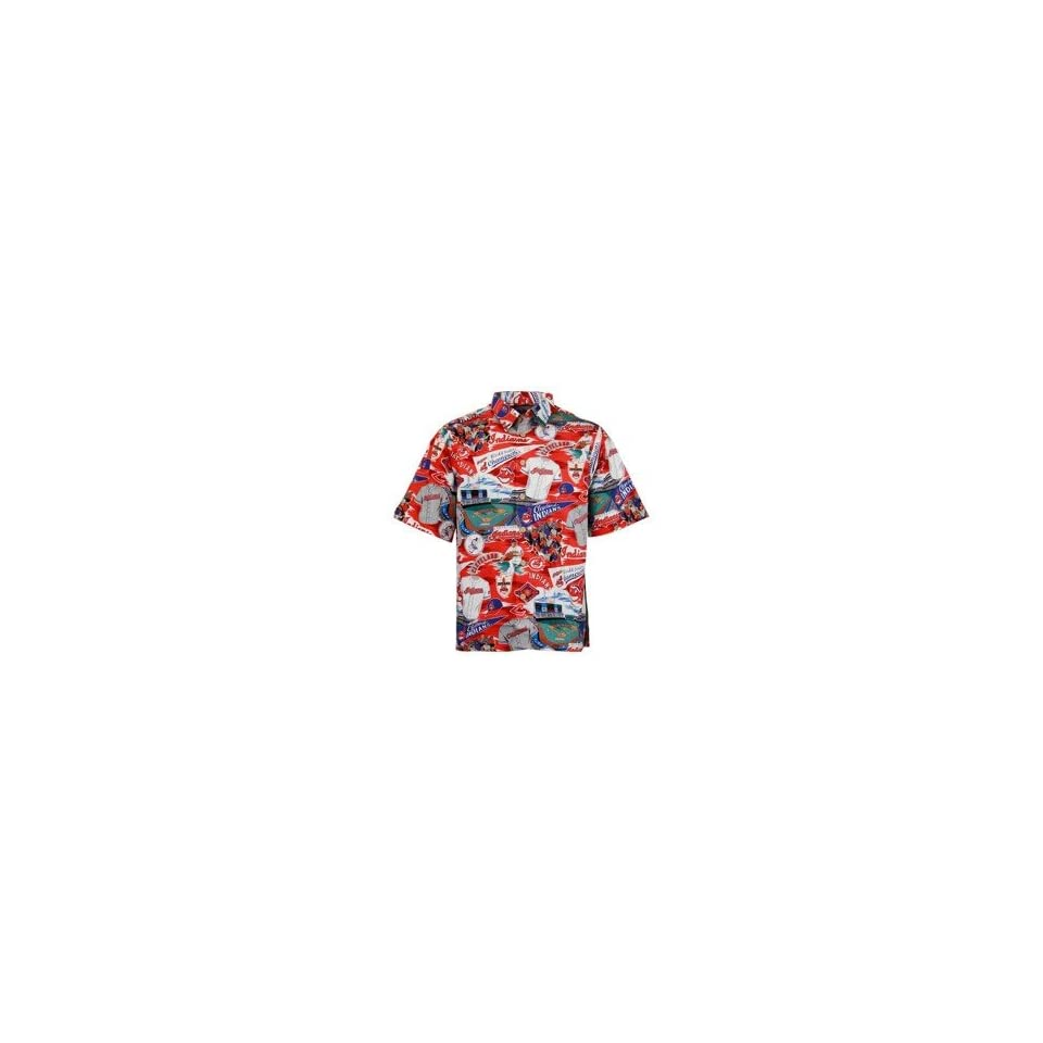 Cleveland Indians Red Scenic Print Hawaiian Shirt on PopScreen 402481155
