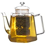 Grosche- Vienna Stove Top Water Kettle And Infuser Glass Teapot 1250Ml 42 Fl. Oz