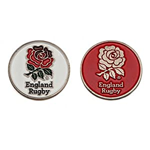 England RFU Official Rugby Gift Golf Ball Marker - A Great Christmas / Birthday Gift Idea For Men And Boys by ONTRAD Limited