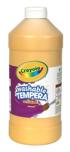 Crayola Tempera Washable Paint 32-Ounce Plastic Squeeze Bottle, Peach