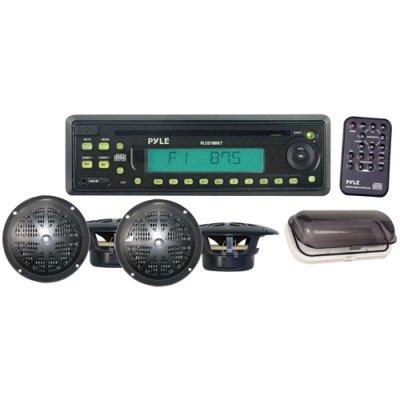 Pyle Marine White Stereo Radio Cd Player Speaker Package Waterproof5.25