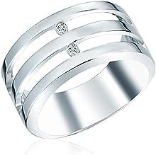 Secret Diamonds - Anillo - 925 Plata esterlina - complementos de mujer - En diferentes tamaños, Anillo de Plata esterlina, Joyería de plata, Joyas con Diamantes - 60250055