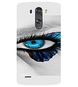 PrintVisa Blue Eyes Design 3D Hard Polycarbonate Designer Back Case Cover for LG G3 MINI
